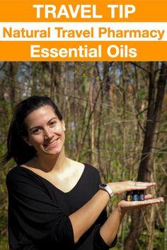 Essential Oils from dōTERRA - My Travel Pharmacy Responsible Travel, Doterra, Pharmacy, Peppermint, Budgeting, Travel Tips, Lavender, Essential Oils, Lemon