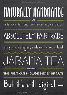 absolutely handmade and vegan font
