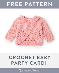 Free Pattern - Crochet Dots Baby Sweater I can't help myself crochet friends, I love to make baby sweaters! Crochet Baby Cardigan Free Pattern, Crochet Baby Jacket, Crochet Baby Sweaters, Baby Sweater Patterns, Baby Girl Sweaters, Baby Clothes Patterns, Baby Girl Crochet, Crochet Baby Clothes, Baby Patterns
