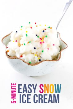 Snow Ice Cream   I made this- it was easy and tasty. I ate a little too much though ;)