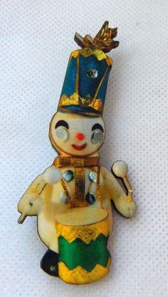 Kitchy Retro Style Christmas Snowman Brooch or Scarf Pin Wood Accessories NEW #handmade http://www.ebay.com/itm/-/162300468983?