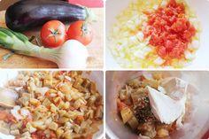 Puré de berenjena y tomate