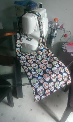 Sugar Skull Print large tote bag by RoseCityCrafter on Etsy, $20.00