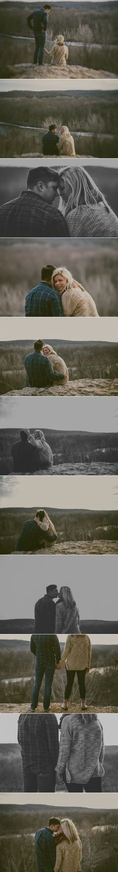 Scenic Engagement Photos - Bohemian Wedding Photographer - Saint Louis Photographer — Charis Rowland Photography - Castlewood State Park - Romantic photos - posing couples - trendy engagement photos #engagement #stlouis #romantic #modern #bohemian #boho #photography #pictures