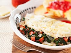 A Damn Good Egg White Omelet Recipe  Looking for a healthy breakfast? This low-fat recipe from chef Bobby Deen is packed with vegetables and lean protein.