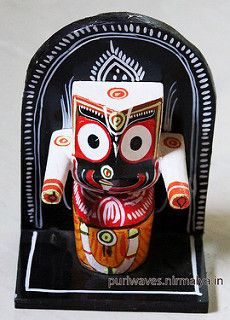 Lord Jagannath Wooden Idol PURIWAVES.