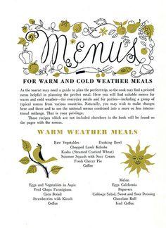 #165- Fireside Cookbook | Flickr - Photo Sharing! Cookbook Shelf, Shelf Life, Food Illustrations, Retro Design, Cook Books, Diners, Cursive, Prints, Typography