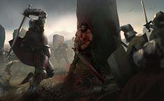 Bremmer Dan Gorst vs Whirrun of Bligh  - by OrtizFreelance DeviantArt