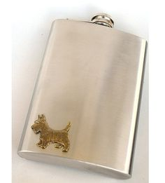 Steampunk  SCOTTISH TERRIER  Flask  Men  by GlazedBlackCherry, $35.99~