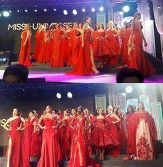 Mariam Habach Miss Venezuela en el Certamen de Miss Universe, quin participo en cada uno de los desfiles de Mod que preparo la Organizacion Miss Universe en Filipinas..