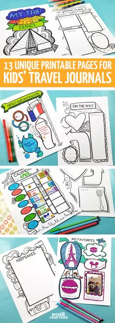 A travel journal for kids is a great way for them to keep memories and they make fantastic travel activities for kids! Credits: momsandcrafters.com