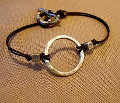 Circle of Life fine silver and leather by HitchHollowDesign, $45.00