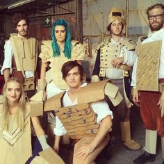 Say Geronimo!  Bombs away.  #Sheppard band.  Cardboard Clad Conquerors.
