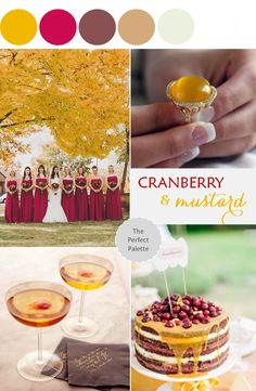 Color Story | Cranberry + Mustard | The Perfect Palette