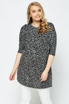 9695400e0d Marina Kaneva Black Leopard Print Top Size UK 16 LF087 AA 11  fashion   clothing