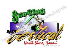 SURFING PASS VERTICAL NORTH SHORE-DTG PRINTING ON MEN'S SWEATSHIRTS COTTON BLEND #Gildan #SweatshirtCrew
