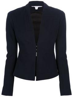 Diane Von Furstenberg Blazer Azul Marinho. - Splash - Farfetch.com.br Classy Outfits For Women, Office Outfits Women, Cool Outfits, Clothes For Women, Blazer Jacket, Sweater Jacket, Modele Hijab, Stylish Jackets, Gowns Of Elegance