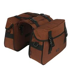 Tourbon Unisex Shoulder Bag Laptop Case Detachable Into 2 Bags for Lovers Travel for sale online Bicycle Panniers, Bicycle Bag, Nylons, Bicycle Rear Rack, Leather Bicycle, Velo Vintage, Commuter Bike, Bicycle Accessories, Day Bag