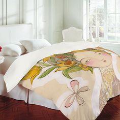 Sweet for a little girls room.   Fine Companions Duvet Cover by Cori Dantini