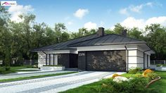 Z378 to wyjątkowy dom z kategorii projekty domów parterowych Home Building Design, Home Garden Design, Building A House, House Plans Mansion, 4 Bedroom House Plans, Mediterranean Homes, Facade House, Design Case, Home Fashion