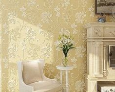 Mondecor Non Woven Wallpaper Living room Bedroom TV Wall Paper Lotus Flower Embossed High Quality Beige Cream Wall Coverings Bedroom Tv Wall, Living Room Bedroom, Paper Lotus, Cream Walls, Lotus Flower, Wallpaper, Building, Relief, Beige