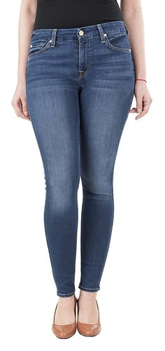 7 For All Mankind Women's B Air Ankle Skinny Jeans Super Skinny - Now Fashion Shop All Fashion, Latest Fashion Trends, Fashion Beauty, Womens Fashion, Ripped Jeans, Skinny Jeans, Stylish Jeans, Super Skinny, Denim