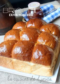 Brioche extra moelleuse et super légère Bread Recipes, Baking Recipes, Thermomix Desserts, Gluten Free Recipes For Dinner, Food Platters, Beignets, Cakes And More, Bakery, Good Food