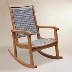 One of my favorite discoveries at WorldMarket.com: Gray All-Weather Wicker and Wood Galena Rocking Chair