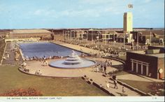Butlins Filey - Early view of Outdoor Pool | Early view before the indoor swimming pool was built