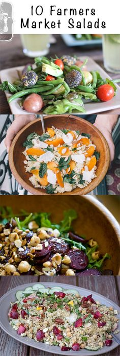 10 Farmers Market Salad Recipes • theVintageMixer.com #healthyrecipes #salad