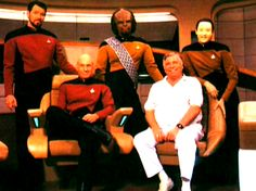 Star Trek TNG cast with The Great Bird Of The Galaxy, Gene Roddenberry