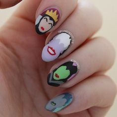 Disney Villain Inspired Nails
