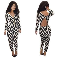 #Pyramid #Cut #Jumpsuit #styleherup  Item: #KMJ011  Pattern: #Printed, #Zig-#Zag,  Fabric: #Polyester + #Spandex  Composition: #Polyester  Sizes: #S, #M, #L
