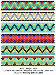 Bildergebnis für geometric pattern peyote bracelet free for six beads