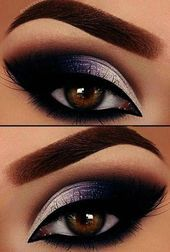 Smokey Eye Steps For Beginners Smokey Eye Makeup Blue Eyes – Make Up for Beginners & Make Up Tutorial Eye Makeup Blue, Eye Makeup Tips, Eyeshadow Makeup, Makeup Brushes, Beauty Makeup, Makeup Ideas, Eyeliner, Makeup Remover, Eyeshadow Palette