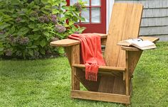 7 outdoor seating projects for the Build a classic Westport chair. Take some stock cedar, make a few tricky cuts, and puzzle it all together to create an instant heirloom. Outside Seating, Outdoor Seating, Outdoor Rooms, Outdoor Chairs, Outdoor Furniture Sets, Outdoor Decor, Adirondack Chairs, Diy Furniture, Furniture Design