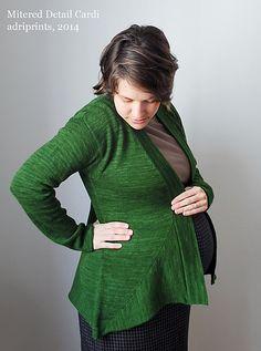 Ravelry: Mitered Detail Cardigan pattern by Adriana Hernandez-Bergstrom
