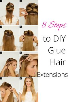 See how easily you can add length and volume with tape in extensions 8 easy steps to diy glue your hair extensions solutioingenieria Image collections