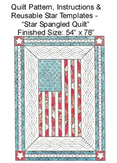 Star Spangled Quilt pattern.