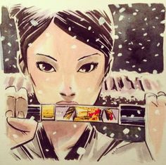 O-Ren Ishii, alias Cottonmouth (Lucy Liu) Kill Bill vol 1 by Mike Henderson