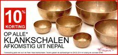 10% KORTING OP KLANKSCHALEN! - Op al onze klankschalen uit Nepal hebben geven wij 10% korting! - http://www.stiggelbout.nl/alle-instrumenten/klankschalen