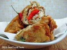 Tahu Berontak Isi Kol, Wortel & Daun Bawang | Just Try & Taste Tahu Isi, Indonesian Food, Mexican, Snacks, Meat, Chicken, Vegetables, Cooking, Ethnic Recipes