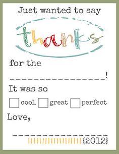 THANKS Printables for the Kiddos