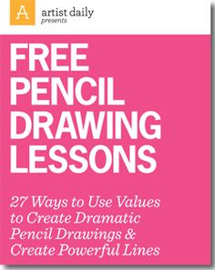 Download this free guide to learn 27 ways to use values to create dramatic pencil drawings and create powerful lines.
