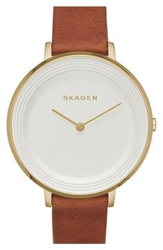 Skagen+'Ditte'+Round+Textured+Dial+Watch,+37mm+(Nordstrom+Exclusive)+available+at+#Nordstrom