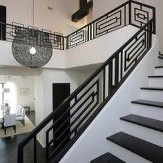Wrought Iron Railings Designs Hungrylikekevin Com Creative Railing Design For Stairs - iron railing design for stairs Black And White Stairs, White Staircase, Iron Staircase, Staircase Railings, Staircase Design, Banisters, Stair Design, Balustrade Design, Stair Handrail