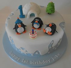 winter wonderland decorations first birthday | Winter Wonderland cake for a first birthday | Flickr - Photo Sharing!