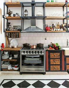 Cocina de una casa antigua reciclada