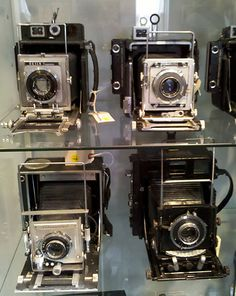 Graflex cameras used by newspaper photographers from the Edward K. Kaprelian Collection.