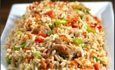 Kid-friendly Rainbow Rice Salad Recipe via Gregory Prince Foods Brown Rice Salad, Wild Rice Salad, Japanese Fried Rice, Rice Salad Recipes, Asian Recipes, Healthy Recipes, Star Food, Rice Dishes, Creative Food